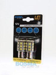 12V BAY15d LED žárovka 24xLED SMD 5050 bílá BOSMA blistr 2ks(LED3246)