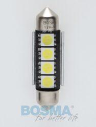 12V LED žárovka sufit SV8,5 12x39 4xLED SMD 5050 CANBUS bílá BOSMA blistr 2ks
