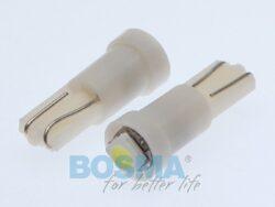 12V T05 LED žárovka 1xLED SMD 3528 bílá BOSMA blistr 2ks(LED3932)