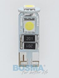 12V T10 LED žárovka 3xLED SMD 5050 CANBUS bílá BOSMA blistr 2ks