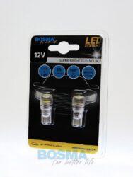 12V T10 LED žárovka 1xLED SMD 7080 bílá (rozptyl.čočka) BOSMA blistr 2ks(LED4014)