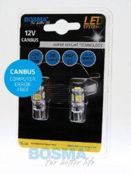 12V T10 LED žárovka 5xLED SMD 5050 CANBUS bílá BOSMA blistr 2ks(LED4199)
