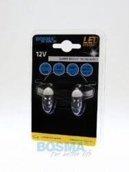12V T10 LED žárovka 2xLED SMD 5630 BULB bílá BOSMA blistr 2ks(LED4069)