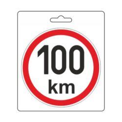 Samolepka omezená rychlost 100km/h (150 mm) TIR-Samolepka omezená / konstrukční rychlost vozidla.  Velikost (průměr) 15 cm