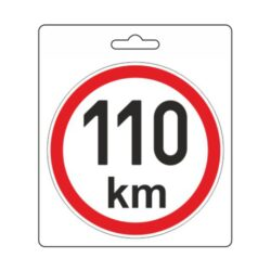 Samolepka omezená rychlost 110km/h (150 mm) TIR-Samolepka omezená / konstrukční rychlost vozidla.  Velikost (průměr) 15 cm