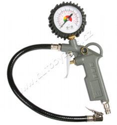 Pistole foukací s manometrem-Vzduchová pistole s tlakoměrem - prac. tlak do 6barů , spotřeba vzduchu dle tlaku od 110-200L/min.