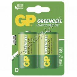 Baterie GP Greencell R20 (D) zinkochloridová blistr 2ks