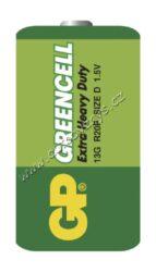 Baterie GP Greencell R20 (D) zinkochloridová blistr 2ks(17642)