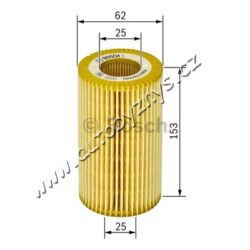 Filtr olejový Octavia/Superb 1.9 BOSCH ; 074115562(17717)