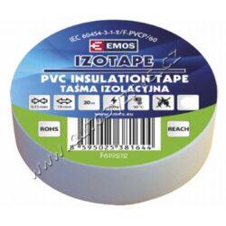 EMOS Izolační páska PVC 19mm / 20m bílá