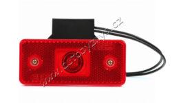 Lampa poziční LED červená s držákem WAS 103Z(17926)