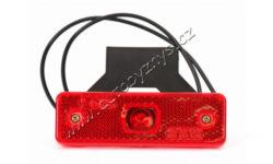 Lampa poziční LED červená s držákem WAS 218Z(17933)