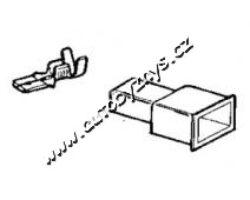 Návlek izolační na zástrčku 6,3mm-modrý