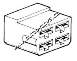Obal objímky s jazýčkem 6,3mm 4póly