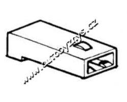 Obal objímky s jazýčkem 6,3mm-1 pól