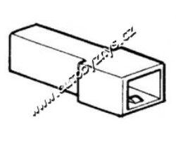 Obal zástrčky s jazýčkem 6,3mm-1 pól