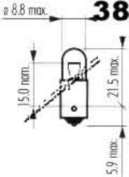 SUPERLIGHT Žárovka 12V 4W Ba9s oranžová