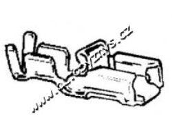 Objímka plochá 6,3x0,5-1,5 otřesuvzdorná