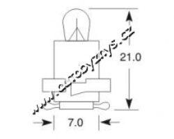 Žárovka 12V 1,2W EBS R ELTA