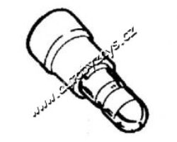 ZÁSTRČKA KRUHOVÁ 5x1,5-2,5-izolace MODRÁ