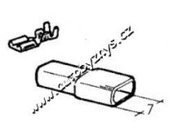 Návlek izolační na objímku 4,8mm